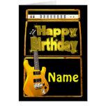 Alles- Gute zum Geburtstaggitarren mit addieren Na Grußkarte