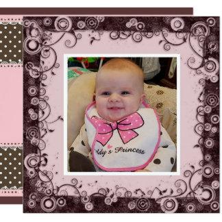 Alles- Gute zum Geburtstaggroßmutter, Rosa und Karte