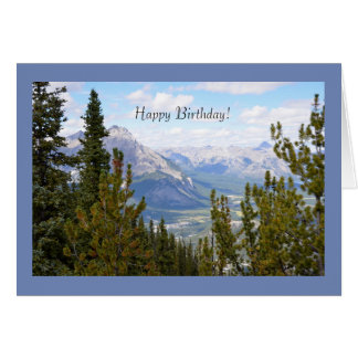 Alles- Gute zum Geburtstaggruß-Karte mit Bergen Karte