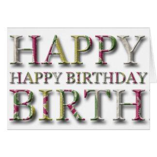 Alles- Gute zum Geburtstaggruß mit Buchstaben in Karte