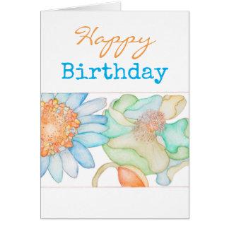 Alles Gute zum Geburtstaggrußkarte mit Blumen Karte