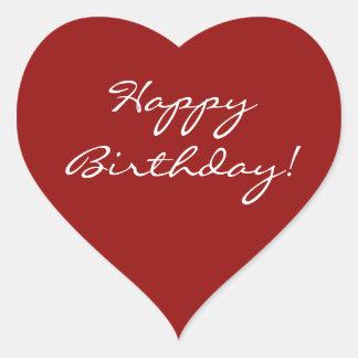 Alles- Gute zum Geburtstagherz Herz-Aufkleber