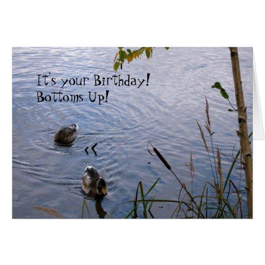 Alles- Gute zum Geburtstaghölzerne Enten Karte