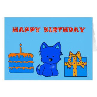 Alles- Gute zum Geburtstaghundekuchen-Geschenk des Karte