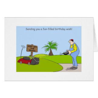 Alles- Gute zum Geburtstagim garten Grußkarte