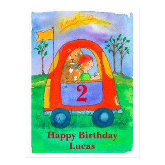 Alles- Gute zum Geburtstagjungen-individueller Postkarte