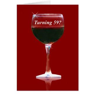 Alles- Gute zum Geburtstagkarte des Rotwein-59. Karte
