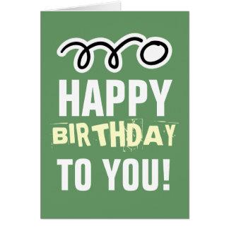 Alles Gute zum Geburtstagkarte für Klingeln pong Karte