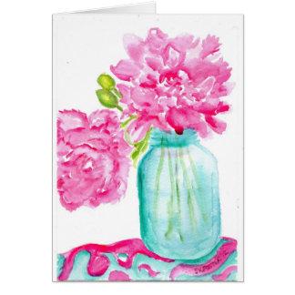 Alles- Gute zum Geburtstagkarte mit rosa Karte
