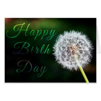 Alles Gute zum Geburtstagkarte w/flower Karte