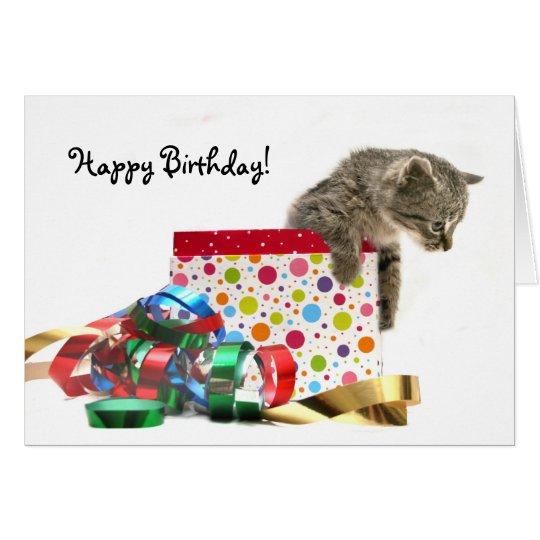 Alles Gute zum Geburtstagkätzchen Grußkarte