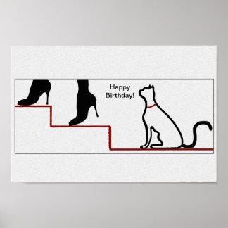 Alles- Gute zum Geburtstagkatze Poster