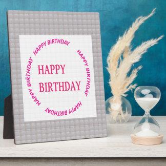 Alles Gute zum Geburtstagkunst auf Fotoplatte