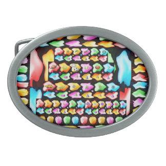 Alles- Gute zum Geburtstagkunst Ovale Gürtelschnallen