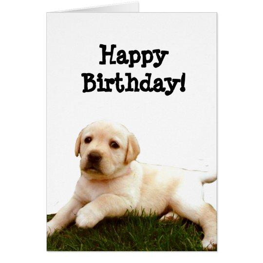 Alles- Gute zum Geburtstaglabrador-Welpengrußkarte Karte