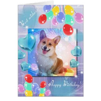 Alles Gute zum Geburtstaglächelnder Corgi Grußkarte