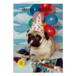 Alles- Gute zum GeburtstagMops-Karte Karte