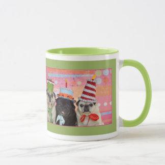 Alles- Gute zum GeburtstagMops-Wecker-Tasse Tasse