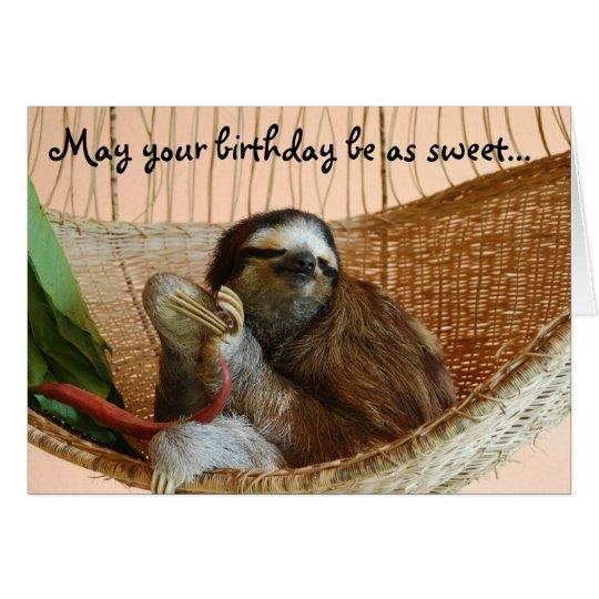 Alles Gute zum Geburtstagniedlicher Sloth Karte