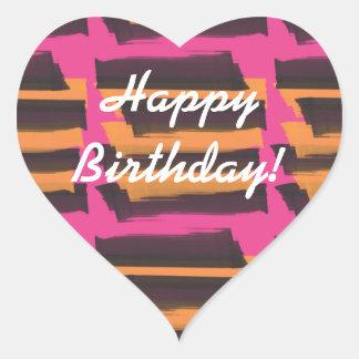 Alles- Gute zum Geburtstagorange rosa Aufkleber