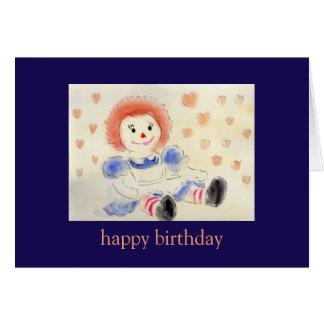 Alles Gute zum GeburtstagRaggedy Ann-Karte Karte