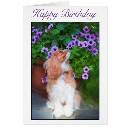 Alles- Gute zum Geburtstagriechender Blumen-König Karte
