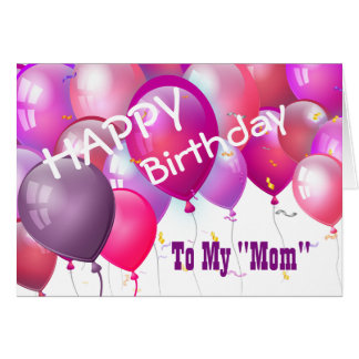 Alles- Gute zum Geburtstagrosa-Ballone mit Rolle Karte