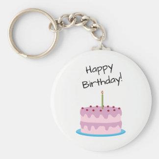 Alles- Gute zum Geburtstagrosa-Kuchen Schlüsselanhänger