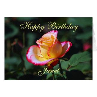 Alles- Gute zum Geburtstagrote, gelbe und weiße Karte