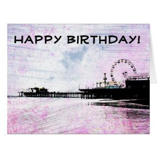 Alles- Gute zum Geburtstagsanta monica Karte