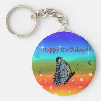 Alles- Gute zum Geburtstagschmetterling Schlüsselanhänger