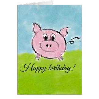 Alles Gute zum Geburtstagschwein Grußkarte