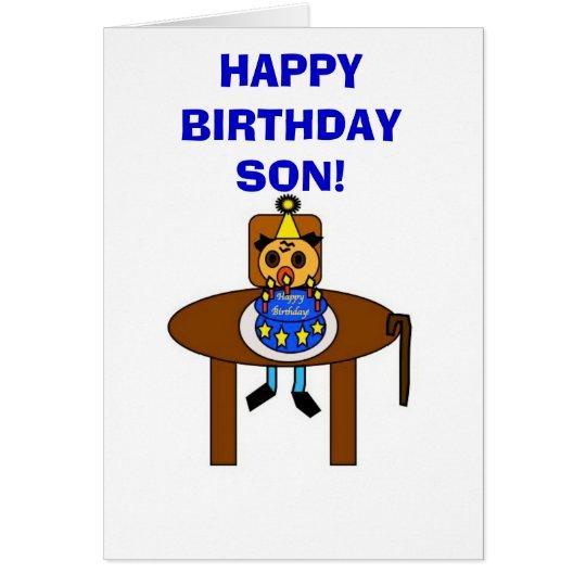 Alles- Gute zum Geburtstagsohn! Grußkarte