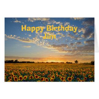 Alles- Gute zum Geburtstagsonnenblumen Jims am Karte