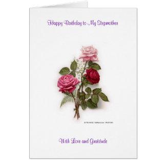 Alles- Gute zum Geburtstagstiefmutter Grußkarte