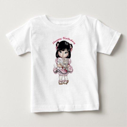 Alles- Gute zum GeburtstagT - Shirt-Baby-Mädchen Baby T-shirt