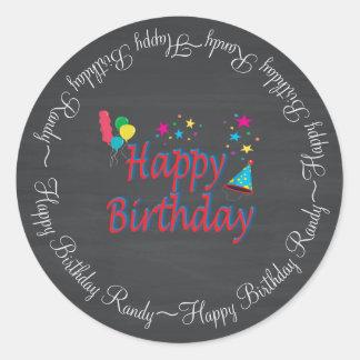 Alles- Gute zum Geburtstagtafel Runder Aufkleber