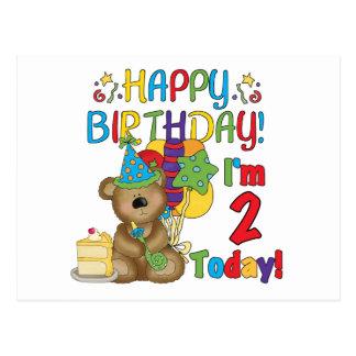 Alles- Gute zum GeburtstagTeddybär-2. Geburtstag Postkarte