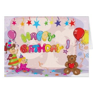Alles- Gute zum GeburtstagTeddybär-Karte Karte