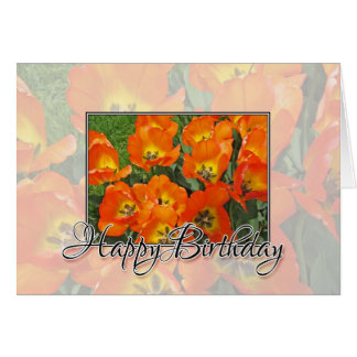 Alles- Gute zum Geburtstagtulpen Karte