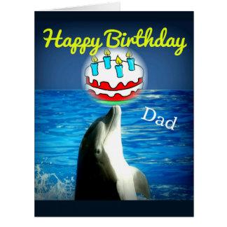 Alles- Gute zum Geburtstagvati-Delphin-Kunst-Karte Riesige Grußkarte