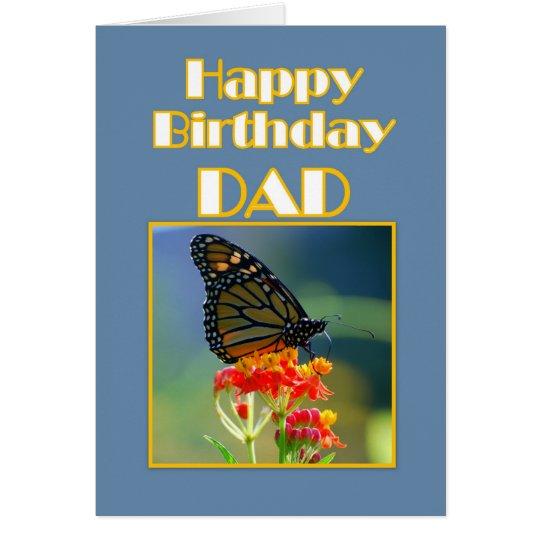 Alles- Gute zum Geburtstagvati-Monarchfalter Karte