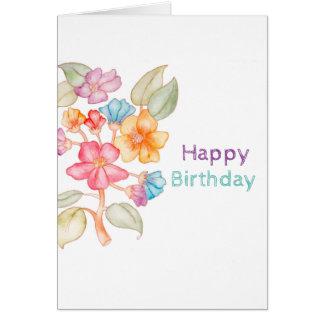 Alles- Gute zum GeburtstagWasserfarbe-Grußkarte Karte