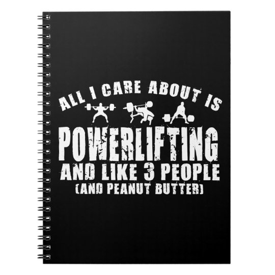 Alles i-Sorgfalt ist ungefähr Powerlifting. Notizblock