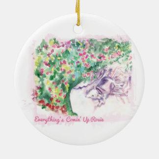 Alles ist Comin herauf Rosie Verzierung Rundes Keramik Ornament