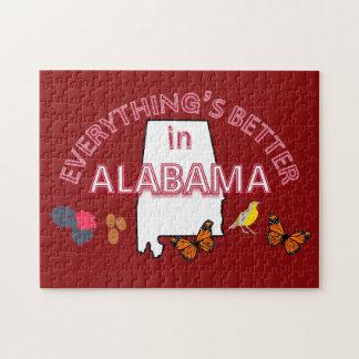 Alles ist in Alabama-Puzzlespiel besser