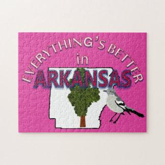 Alles ist in Arkansas-Puzzlespiel besser