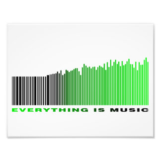 Alles ist Musikbarcodegrün-Entzerrertext Foto