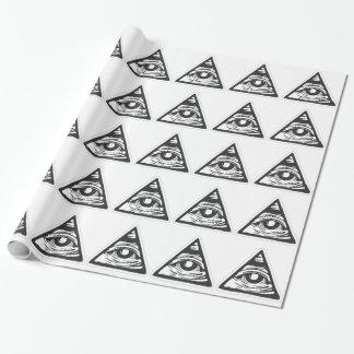 Alles sehende Auge Illuminati Geschenkpapier