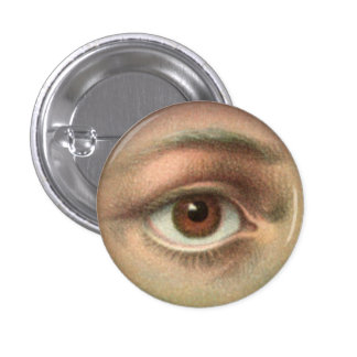 Alles sehende Auge Runder Button 2,5 Cm
